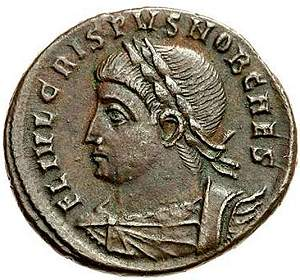 Later roman empire its decline and fall ae coin of crispus obverse fandeluxe Choice Image