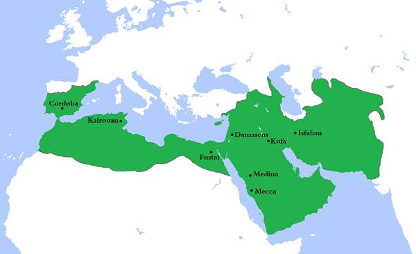 extent of umayyad empire