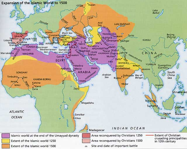 map of islamic world
