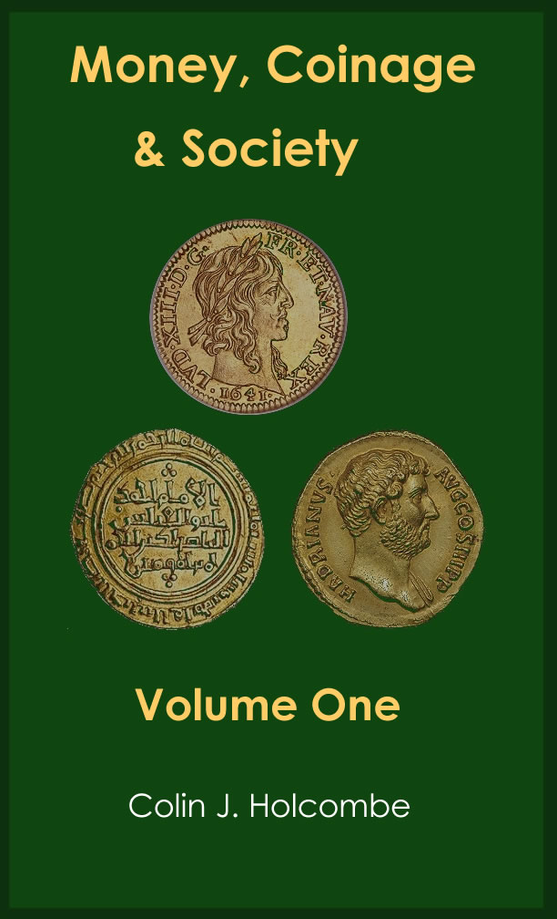 money coinage and society book cover one