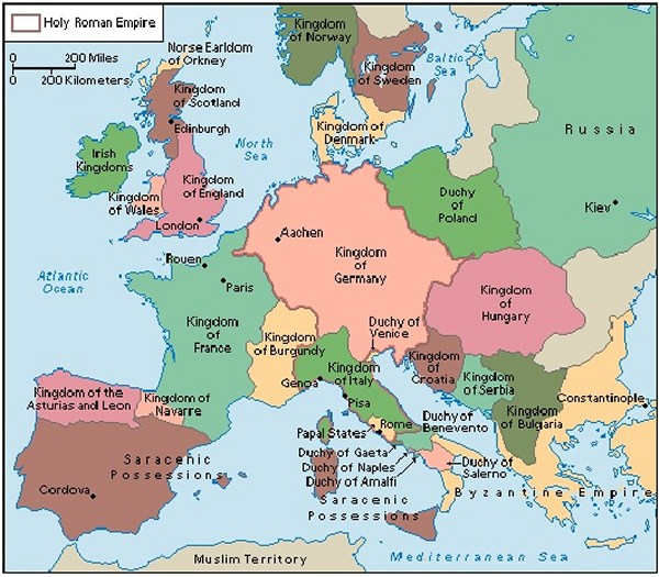 Medieval Europe Map Activity.Cnut S Empire And Medieval Europe