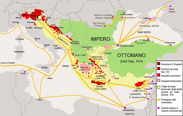 map of venetian empire